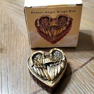 Pewter Angel Wings Box